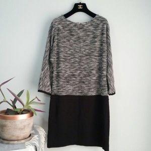 Ann Taylor LOFT Black White Tweed Top Dress Sz 8